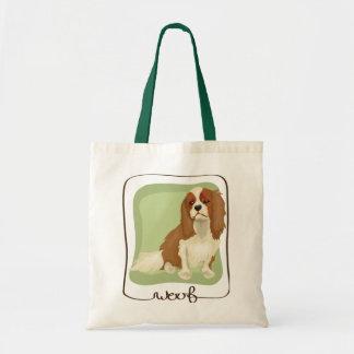 Woof Cavalier King Charles Spaniel Tote Tote Bags