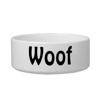 Woof Dog Bowl
