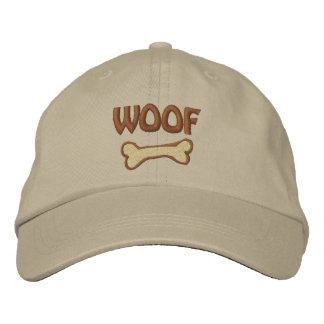 WOOF Dog Lover Embroidered Hat