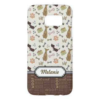 WOOF! Dog Lover - Puppies pattern personalizable