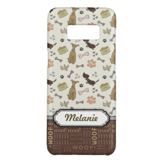 WOOF! Dog Lover - Puppies pattern personalizable Case-Mate Samsung Galaxy S8 Case