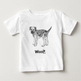 Woof! Dog T-Shirt, Border Terrier Baby T-Shirt
