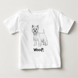 Woof! Dog T-Shirt, West Highland Terrier Baby T-Shirt