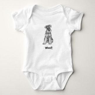 Woof! Doggy Baby Bodysuit - Schnauzer