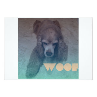 "Woof 5"" X 7"" Invitation Card"