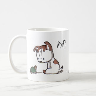 Woof? Meow! Kitty & Puppy Mug! Coffee Mug