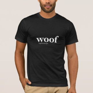 woof on black T-Shirt
