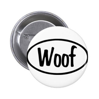 Woof Oval Pin