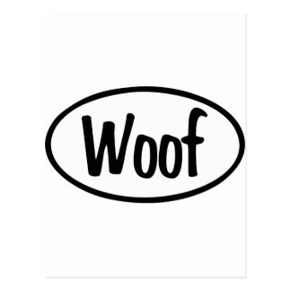 Woof Oval Postcard