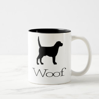 Woof Two-Tone Coffee Mug