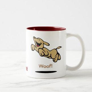 Woof! Two-Tone Mug