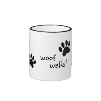 woof walks! ringer mug
