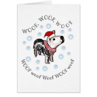 Woof, woof card