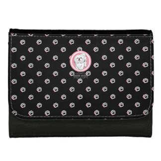 woof! woof! Lhasa apso Leather Wallet For Women