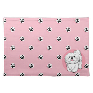 woof! woof! Lhasa apso Placemat