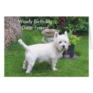 Woofy Birthday to dear friend Card
