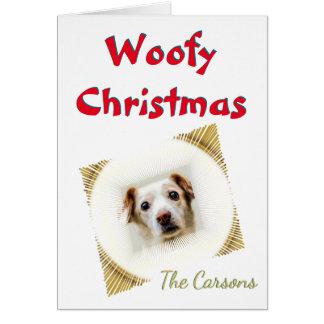 Woofy Christmas Stylized Vignette Photo Template