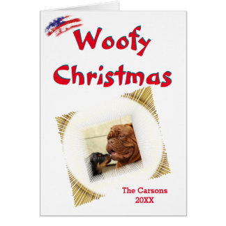 Woofy Christmas USA Vignette Photo Template