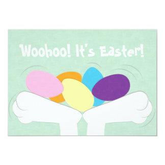"Woohoo! It's Easter! Easter Egg Hunt Invitation 5"" X 7"" Invitation Card"
