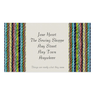 Wool Fabric Effect Textiles Business Card