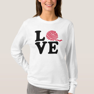 Wool knitting love T-Shirt