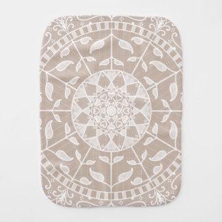 Wool Mandala Burp Cloth