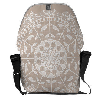 Wool Mandala Messenger Bag