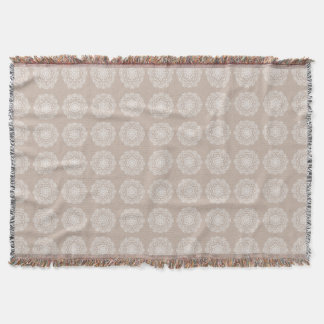 Wool Mandala Throw Blanket