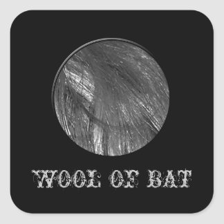 Wool Of Bat Label Halloween Candy Bar Labels Square Stickers