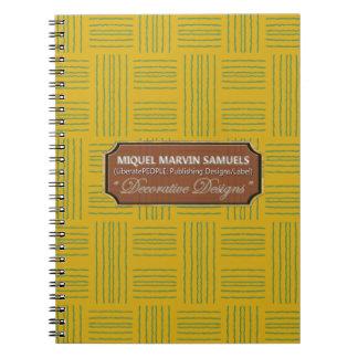 Wool Pattern Decorative Yellow Green Notebook