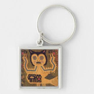 Woollen figure of a jaguar, Paracas Culture Key Chain