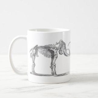 Woolly Mammoth and Skeleton Vintage Evolution Coffee Mug