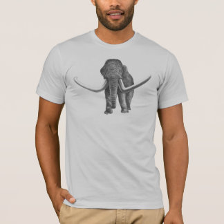 Woolly Mammoth Antique Print T-Shirt