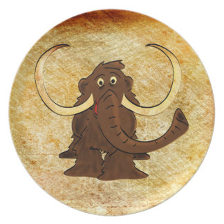 Woolly Mammoth Decorative Plate