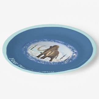 Woolly Mammoth Paper Plate