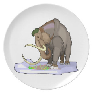 Woolly Mammoth Party Plates
