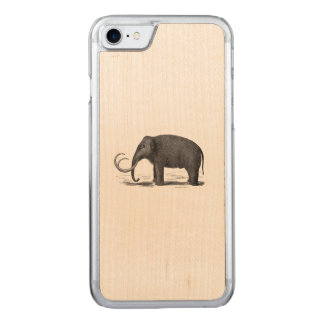 Woolly Mammoth Prehistoric Elephant Carved iPhone 7 Case