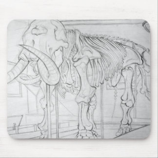 Woolly Mammoth Skeleton Mouse Pad