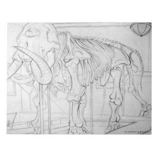 Woolly Mammoth Skeleton Notepad