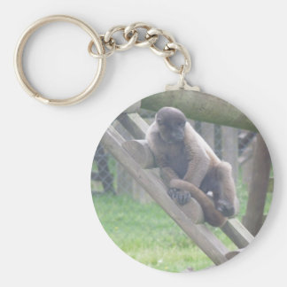 Woolly Monkey Key Ring, Animals Collection Basic Round Button Key Ring