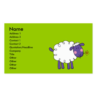 Woolly sheep business card template