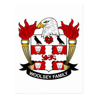 Woolsey Family Crest Postcard