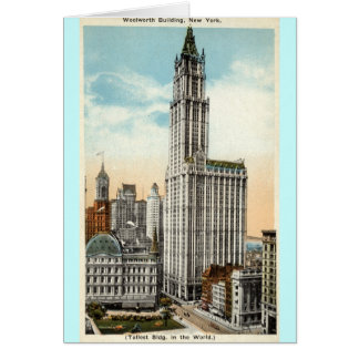 Woolworth Building New York Repro Vintage 1921 Card