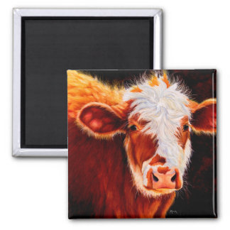 Wooly Bully - Hairy Hereford Calf Cow Magnet