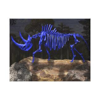 Wooly rhino canvas print