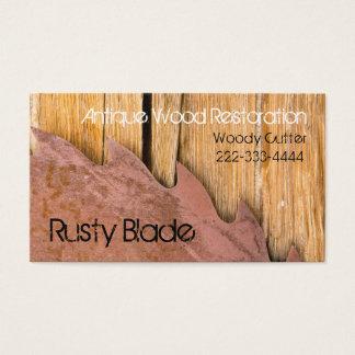 Woood Working Antique Restoration Business Card