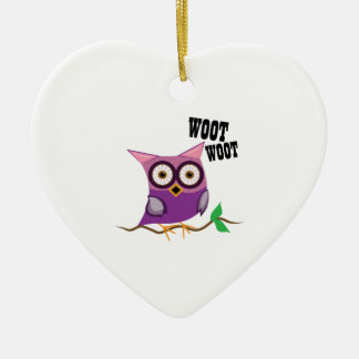 Woot Woot Owl Christmas Tree Ornament