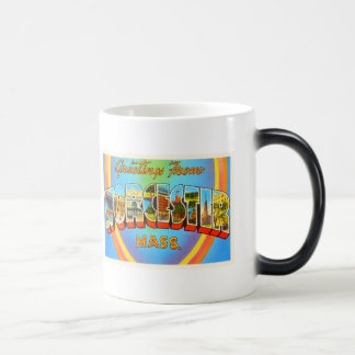Worcester Massachusetts MA Vintage Travel Souvenir Magic Mug