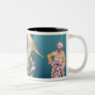 Worcester of Turk and his companion with birds Two-Tone Coffee Mug
