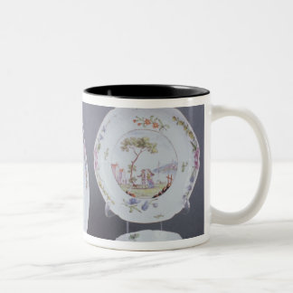 Worcester teabowl and saucer and dish Two-Tone coffee mug